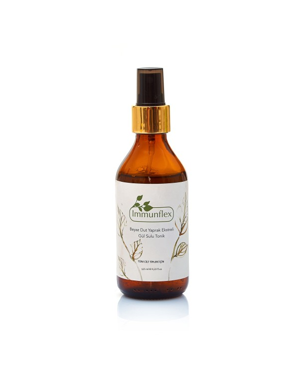 Rose water tonic with white mulberry leaf extract